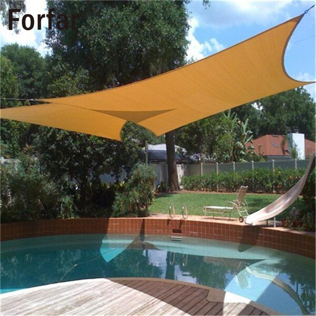 Garden Structures & Shade 3m Waterproof Sun Shade Sail Garden Patio Awning Canopy Outdoor Sunscreen Large