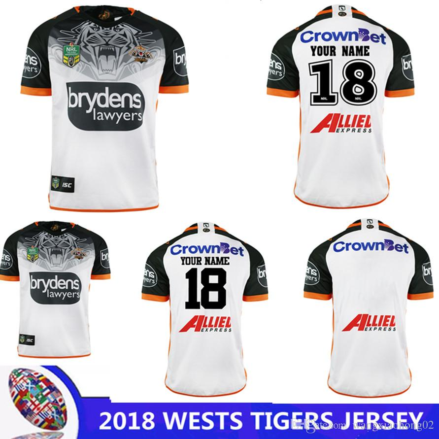 01f143e6a3f 2018 WESTS TIGERS AWAY JERSEY 2018-2019 NRL National Rugby League Rugby NRL  WESTS TIGER 2018 HOME JERSEY Size S - 3XL Can Print WESTS TIGERS NRL RUGBY  ...