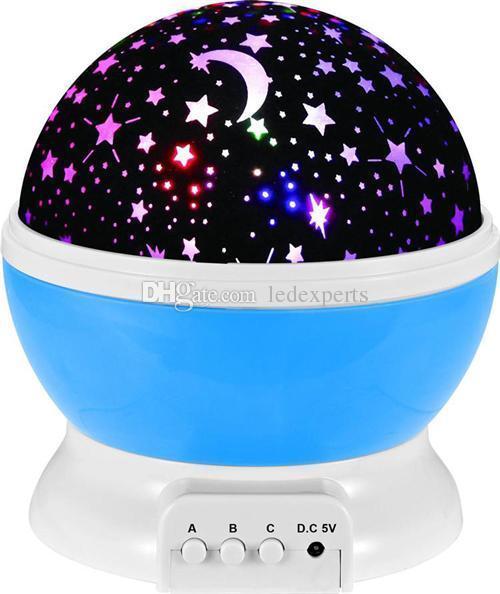 Newest Rotation Night Light Starry Star Moon Sky Romantic Night Projector Night Light for wedding party christmas