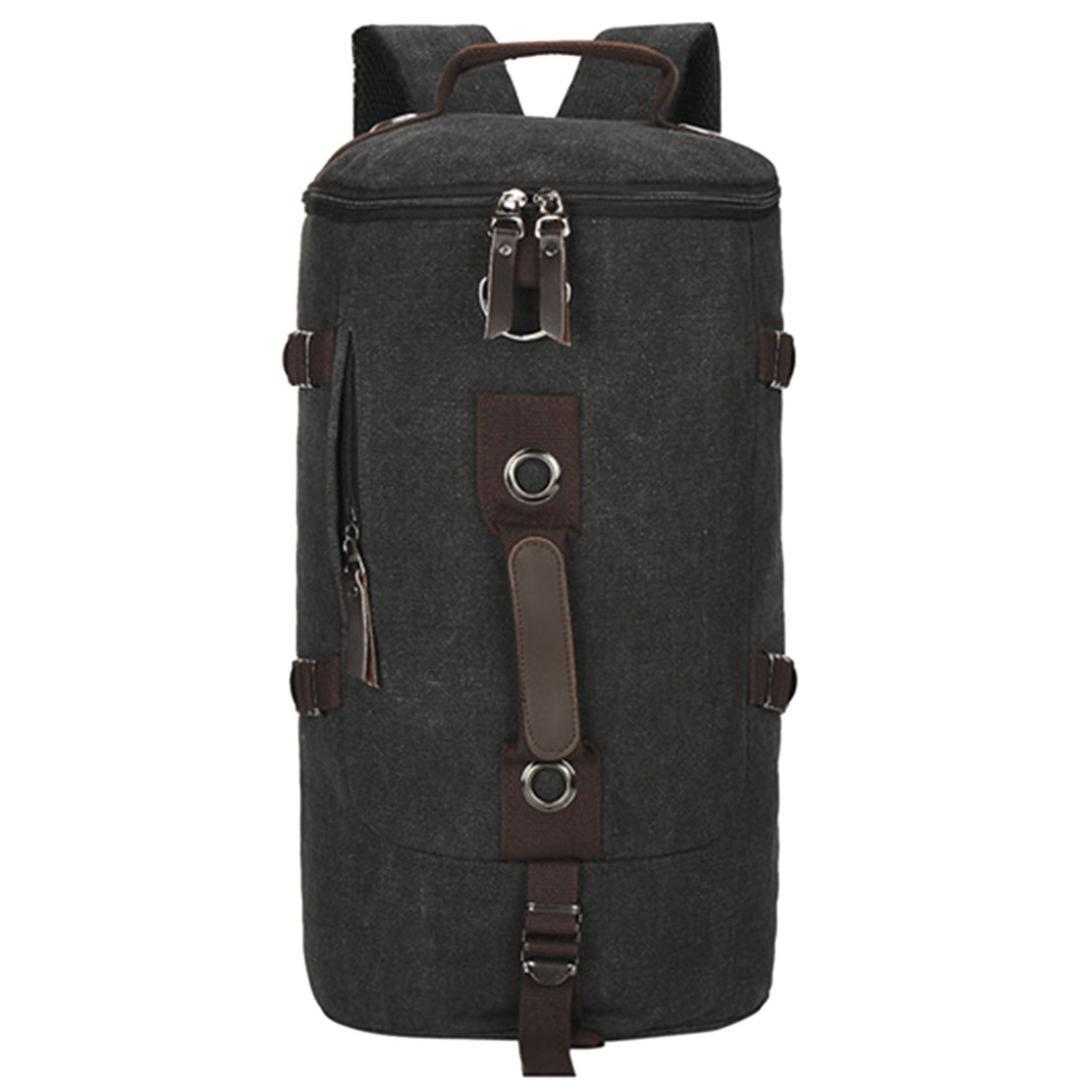 a6796d6276 2019 3 In 1 Multifunction Unisex Retro Style Canvas Backpack Casual Daypack  Trekking Rucksack Handbag Black From Longanguo