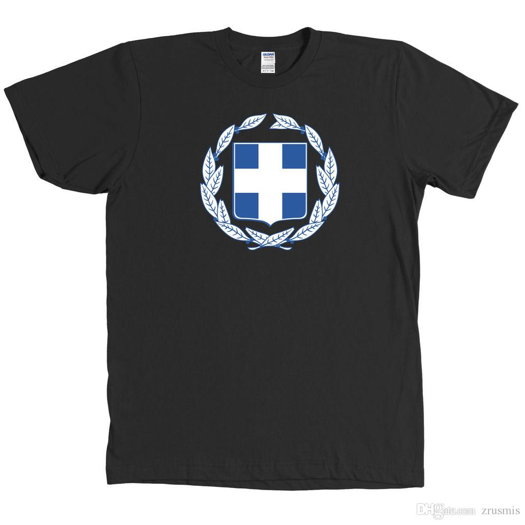 6a48e3e4dc70 Греческий герб футболка Греция флаг гордость Tee-новый с тегами-много  цветов ...