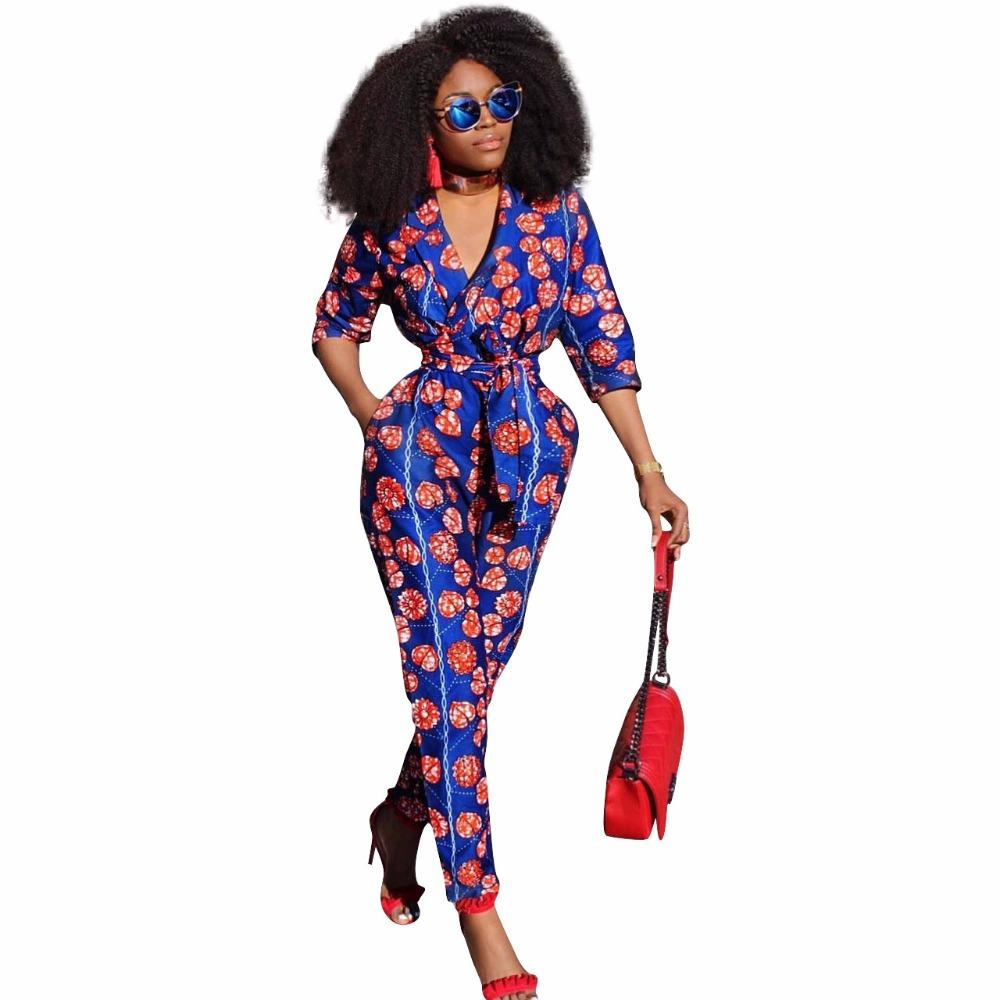 1828d7dbd1e 2019 Womens Rompers Printed Jumpsuit Summer 2018 New Women African Print  Clothing 3 4 Sleeves Casual Sexy Fashion Party Overalls From Bida Jany