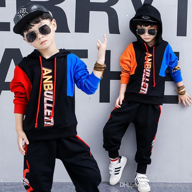 Compre El Más Nuevo Baby Boys Clothes Sets Niños Outfits Ropa Deportiva  Otoño Primavera Niños Sudadera Con Capucha De Manga Larga + Pantalones 2  Unids ... 5672ffd0dd145