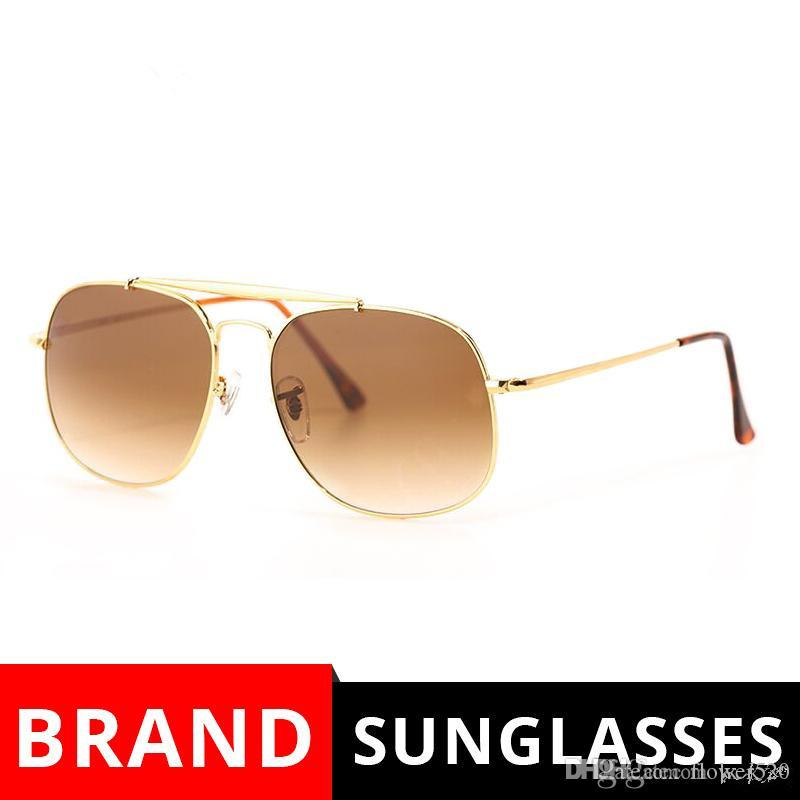 fd27b0c8da1d4 Compre New 3561 Óculos De Sol Para Homens Marca Designer Óculos De Sol A  Praça Geral Óculos De Sol Grande Tamanho 57mm Lentes De Vidro Moldura De  Metal Com ...