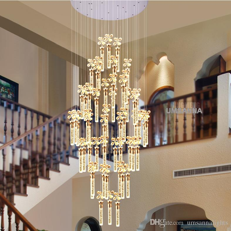 Led Modern Crystal Chandelier Bubble Bar American Chandeliers Lights ...