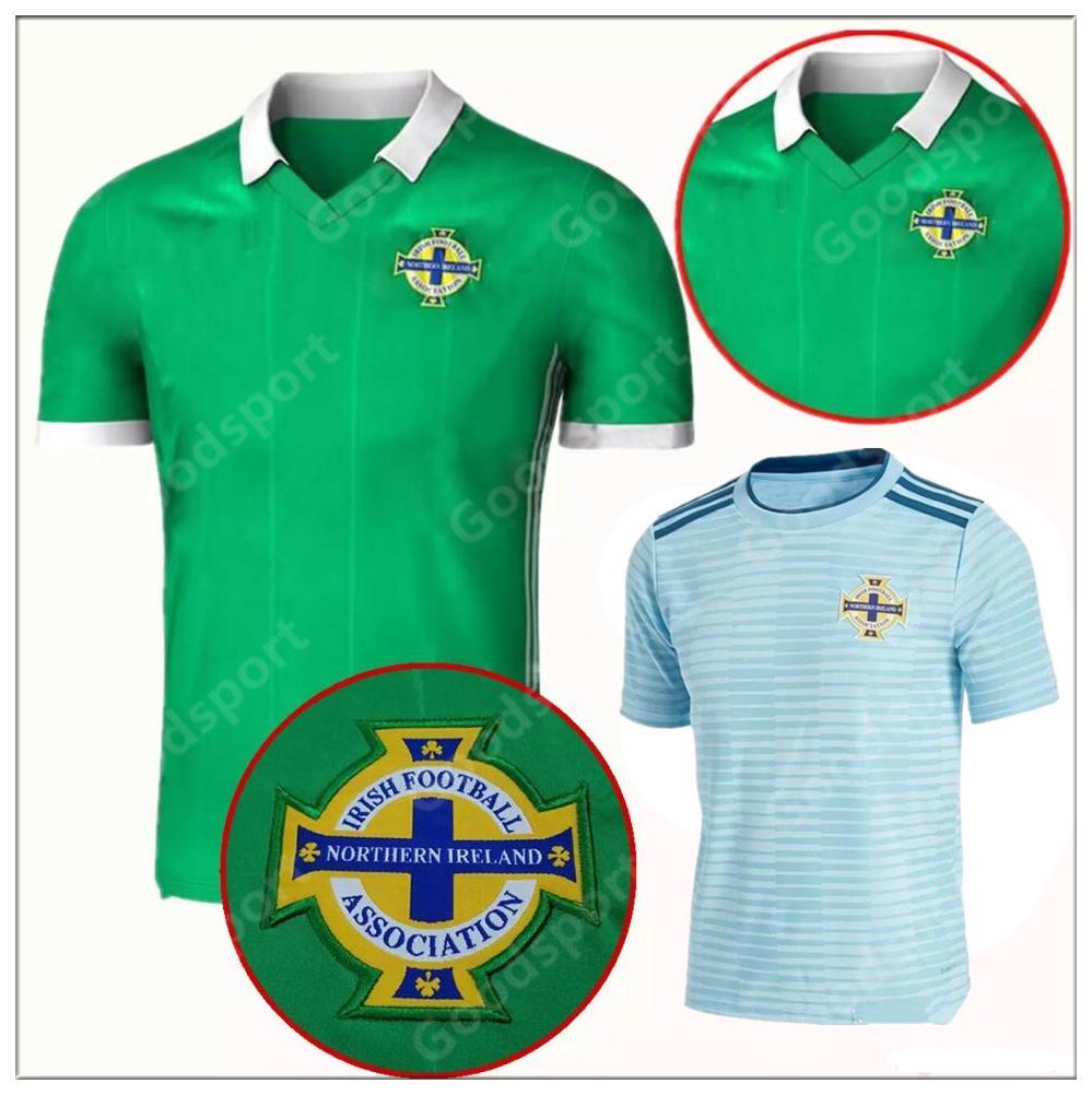 brand new f7a90 7c8ab 2018 Northern Ireland soccer jerseys 2018 World Cup home green DEL NORTE  Tuaisceart Eireann McNAIR K.LAFFERTY DAVIS football shirts