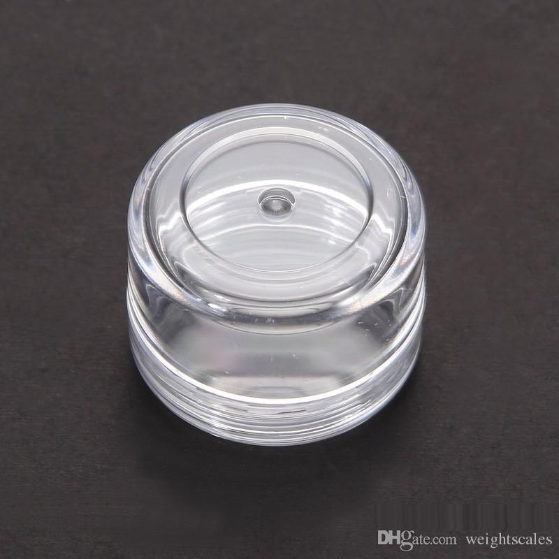 حاوية عينة التجميل واضحة البلاستيك 5 غرامات الجرار وعاء صغير فارغة 5000 قطعة
