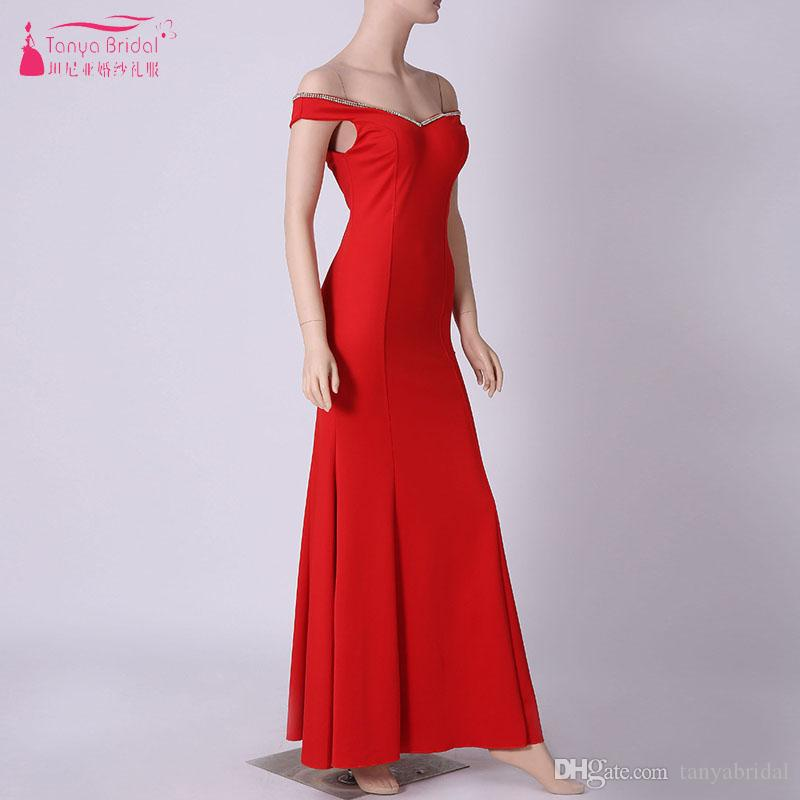 Cheap Evening Dresses Red/Blue/Black Formal Gowns 2018 Long Mermaid ...