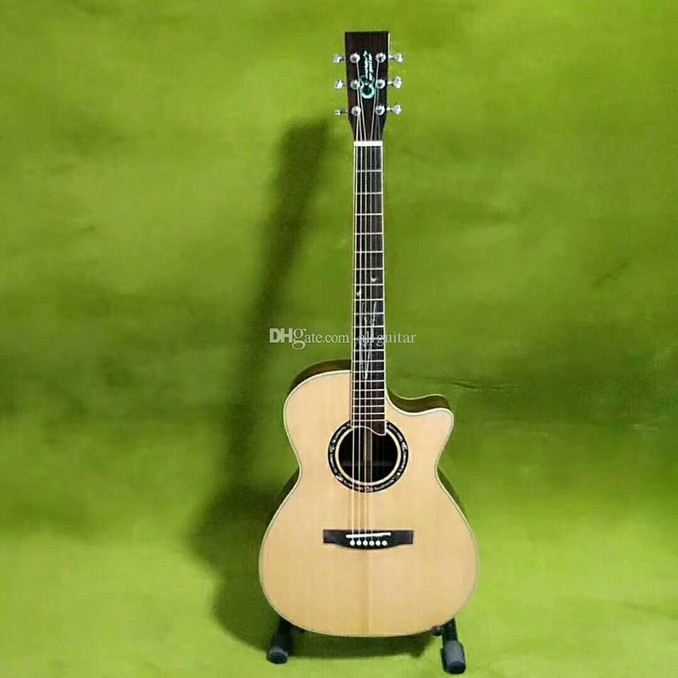 2018 new style china acoustic guitar 41 inch auditorium bamboo inlay fretboard custom made. Black Bedroom Furniture Sets. Home Design Ideas