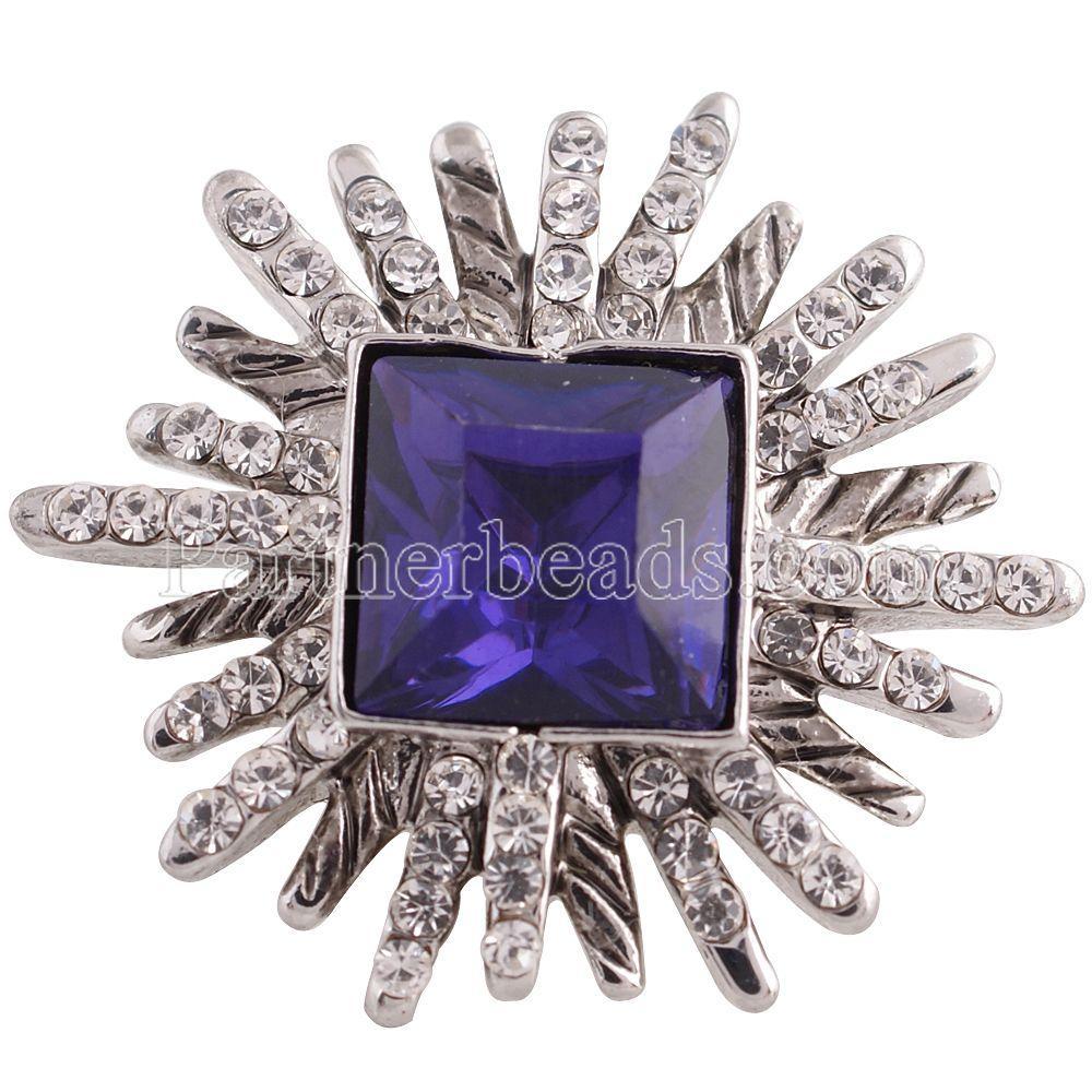 Novo Design de Cristal de Alta Qualidade 18mm Snap Botão Partnerbeads ODM, OEM Mulheres Charme Pulseira Snap Jóias KC5357