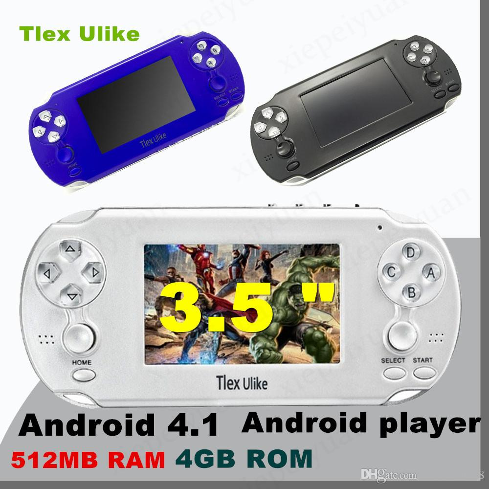 DHL Tlex Ulike Android 512MB RAM 4GB ROM Handheld TV Game Console Bluetooth  Wifi HDMI Video Support MP4 MP5 NES FC SFC MD Android player