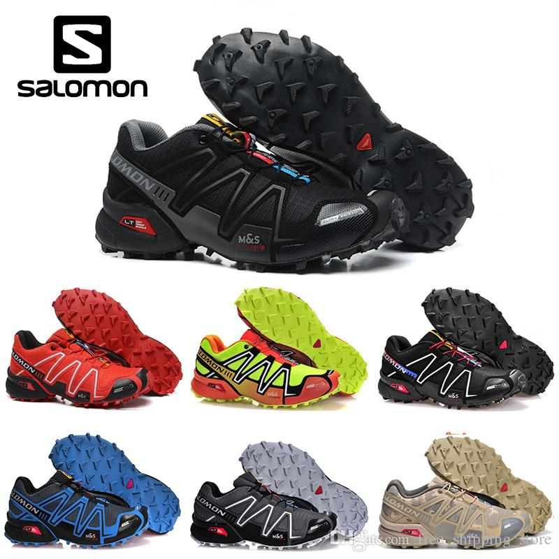 33aa87c15353 Cheap Salomon Speedcross 3 CS Mens Running Shoes Black Red Men Lightweight  Sneakers Zapatos Waterproof Athletic Sports Shoe Size 40 46 East Bay Shoes  Shop ...