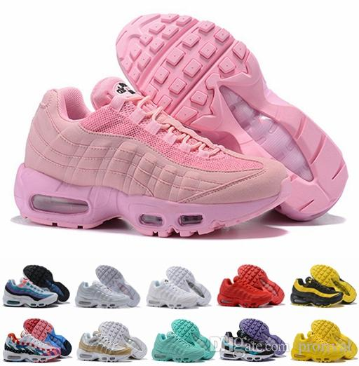 453dd4f3860 ... 95 X Foot Locker 2018 Running Shoes For Women Piet Parra X Red Yellow  Pink Frequency ...