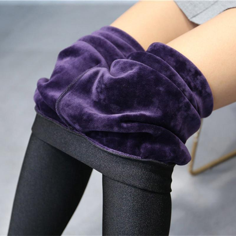 8a5f898db8319a 2019 High Quality Winter Warm Women Leggings Plus Thick Velvet Solid Color  High Waist Pants Legins Femme Plus Size 5XL Casual Legging From Watchlove,  ...