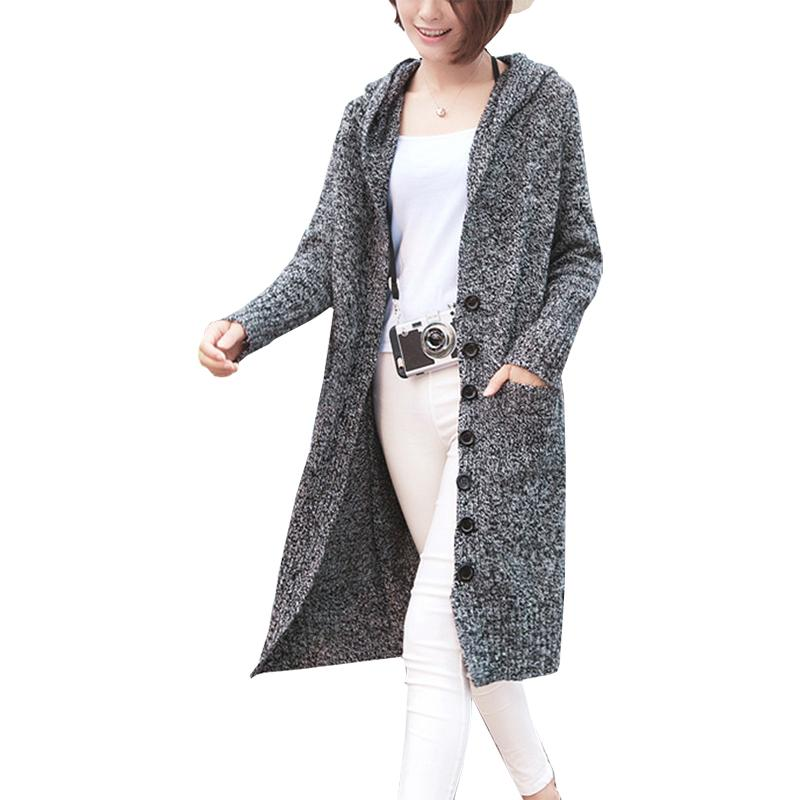 e5d3c939f5 2019 Long Sweater Women S Cardigan 2018 Single Breasted Pocket Sweaters  Korean Version Thick Long Sleeved Clothing Vestidos MMY17179 From Yujian18