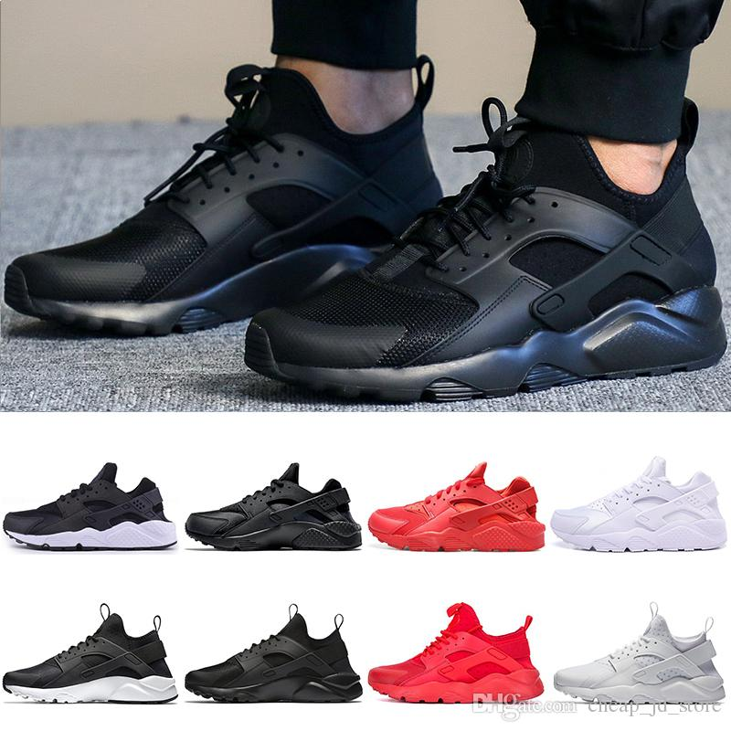 2663a5e4d New Arrival Huarache Running Shoes For Mens Women Love Hate Pack All Red  White Black Huraches Athletic Sport Shoes 36 45 Cheap Wholesale Mens  Running Shoe ...