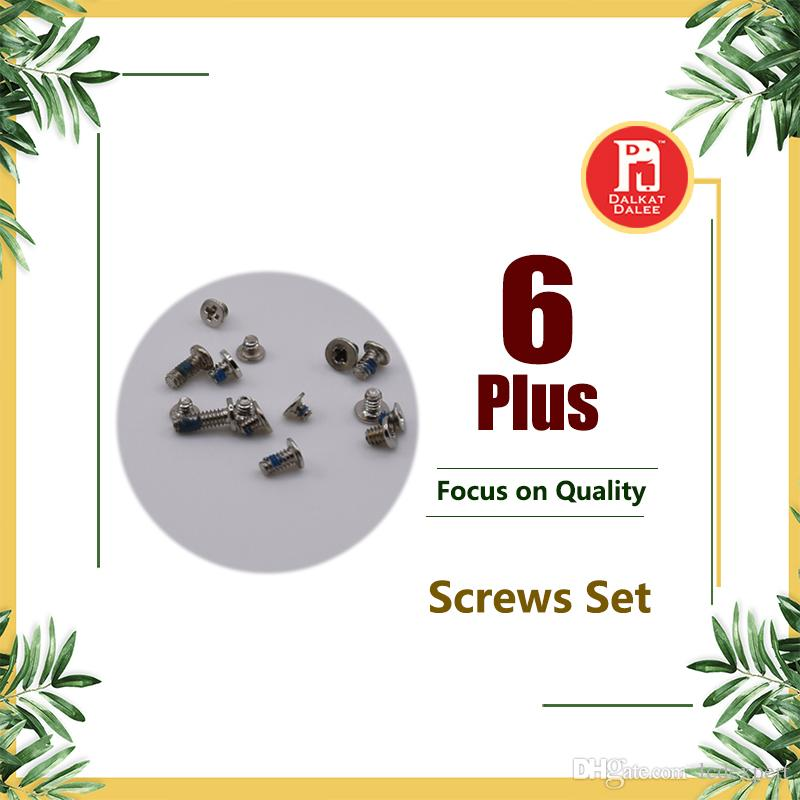 For iPhone 6 Plus Full Screws Set With 2 Five Star Pentacle Pentalobe Dock Connector Bottom Torx Screw Complete Sets Replacement Parts