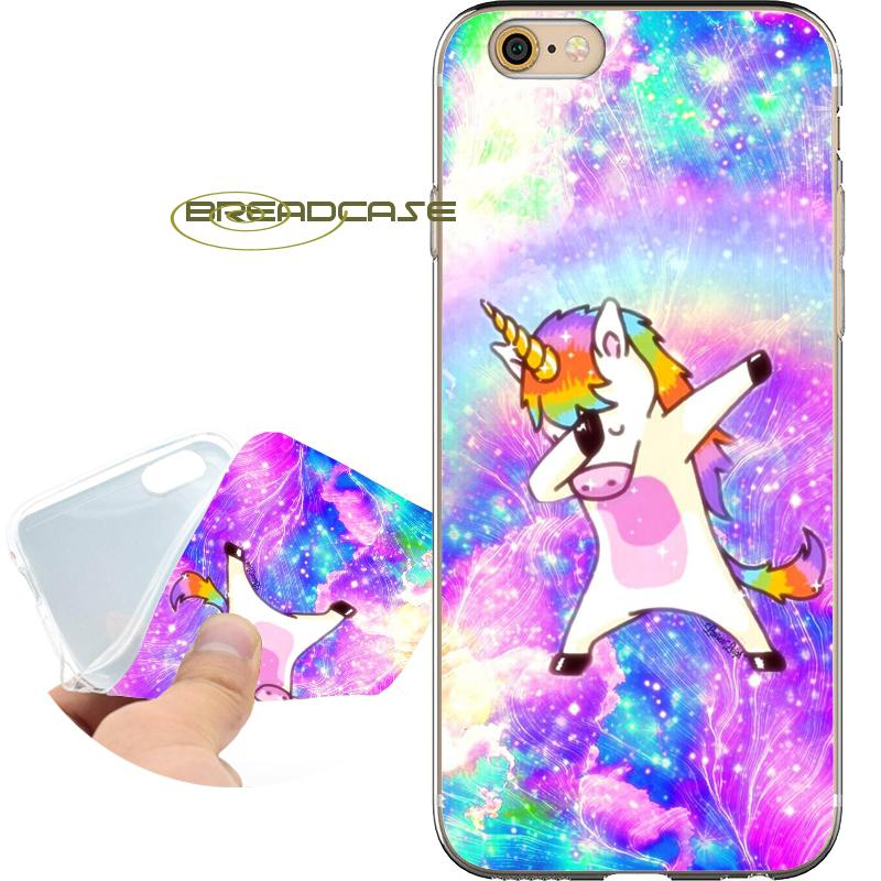 finest selection 83295 ecb16 Coque Shiny Cute Unicorn Cases for iPhone 10 X 7 8 6S 6 Plus 5S 5 SE 5C 4S  4 iPod Touch 6 5 Clear Soft TPU Silicone Cover.