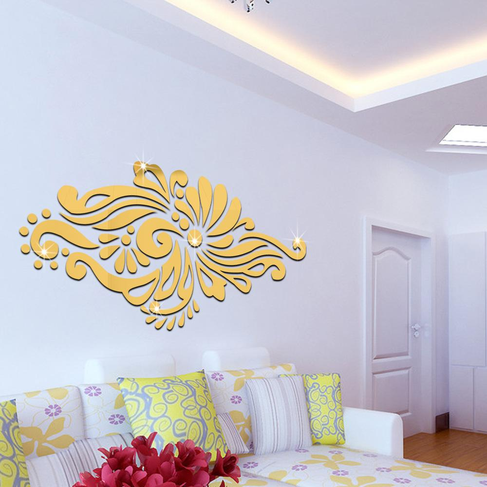 ModernWall Decorated Living Room Entrance Bohemian Style 3D Stereo Mirror Wall Stickers Home Decor
