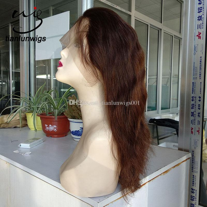 cheap price high quality human hair 130% density full lace front wig natural straight hair everyday wig for women