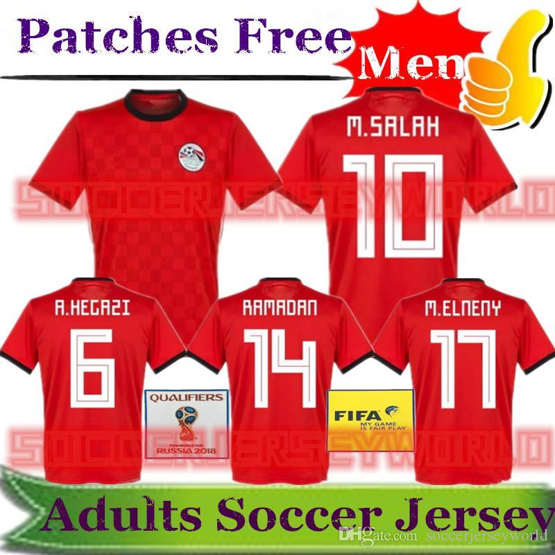 97992095e ... discount code for 2018 world cup egypt soccer jersey egypt m.salah  hegazi fathy elmohamady