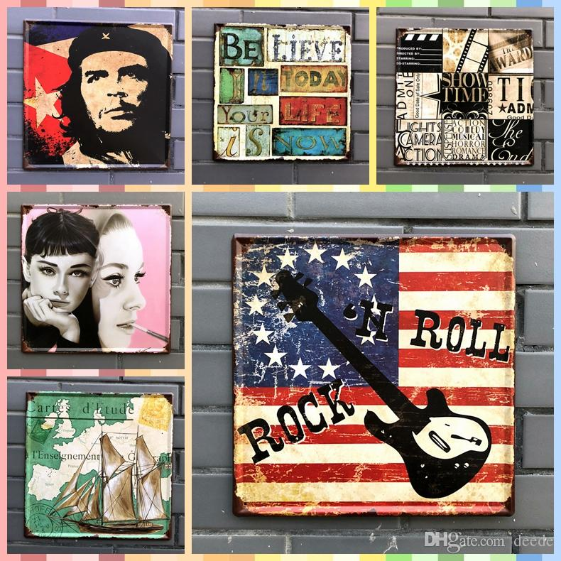 2019 ROCKN ROLL 3030cm Posters Home Decor Tin Signs Vintage Graphic Tablet Metal Art Iron Wall Paint Crafts Supplies From Deede 395