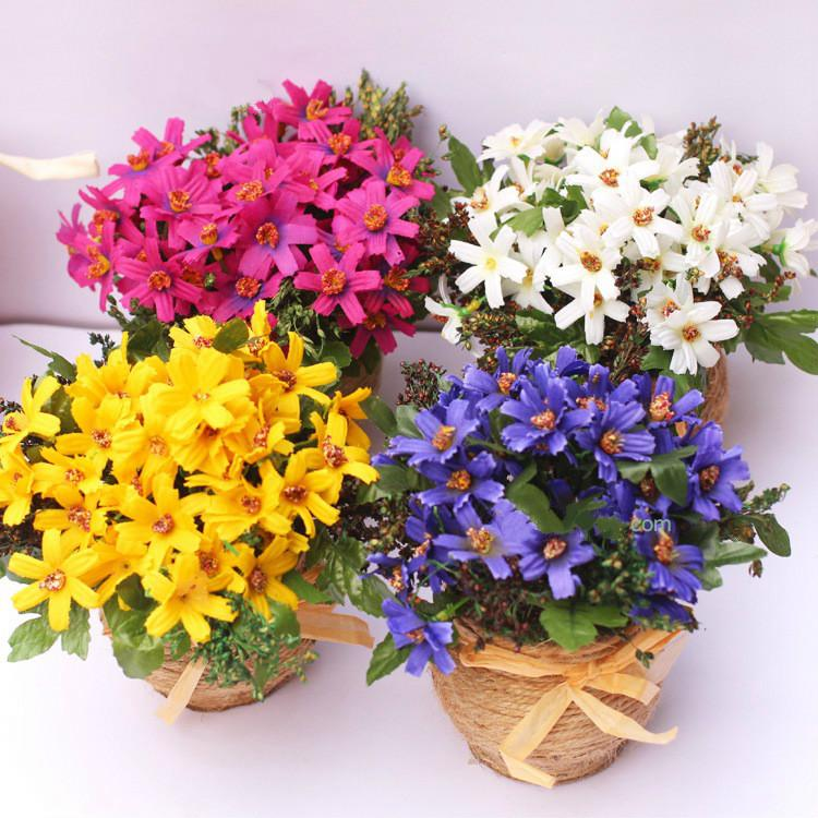 2019 Beauty Daisy Artificial Flower Pot Office Of Potted Plants Furnishings Artificial Flowers Wedding Decoration Home Decoration From Meihon ... & 2019 Beauty Daisy Artificial Flower Pot Office Of Potted Plants ...