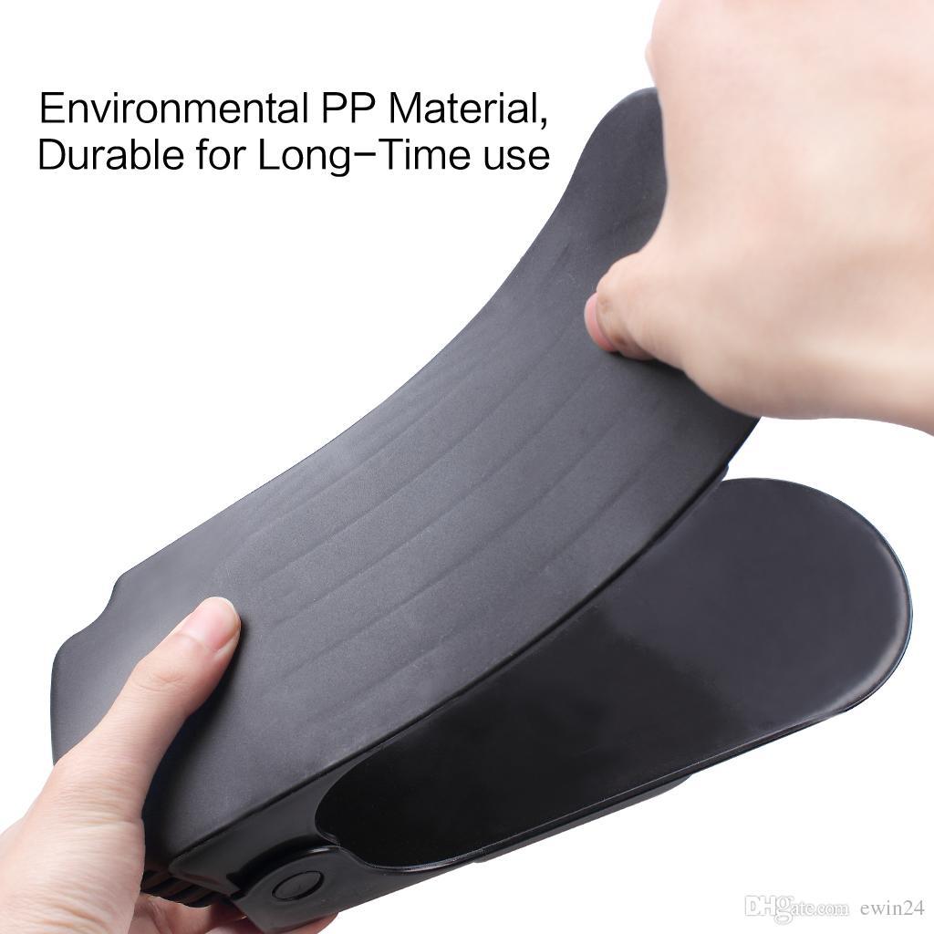 Shoe Slots Adjustable Space Saver Organizer Premium Shoes Holder Double Shoe Rack Storage for Saving Space