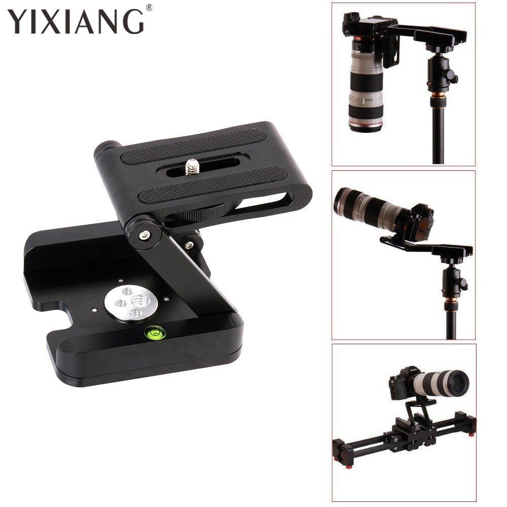 YIXIANG Professional Camera Flex Tripod Z Pan & Tilt Aluminum Folding Z  Tripod BRACKET Head Solution Photography Studio