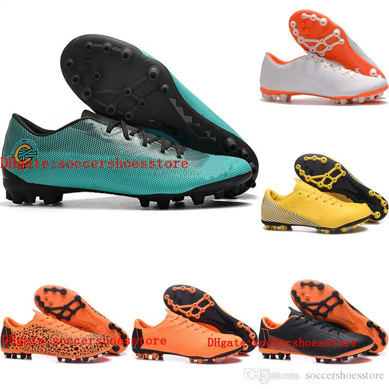 sale retailer 475c1 33823 2018 mens soccer cleats VaporX 12 Academy CR7 AG-R soccer shoes Mercurial  Superfly football boots scarpe da calcio size 39-46 Original