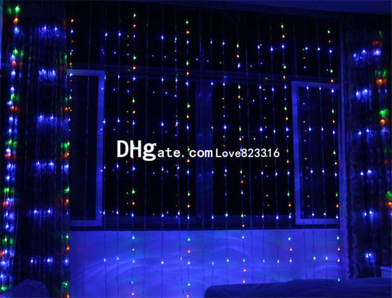 1024LED 디지털 라이트 크리스마스 실내 정원 장식 창 상점 전면 8M * 3MLED 휴일 등불 디지털 빛 폭포 점화