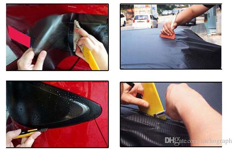 Film automobile collant outil petit grattoir nettoyage de téléphone mobile autocollant de voiture autocollant grattoir auto outil de réparation