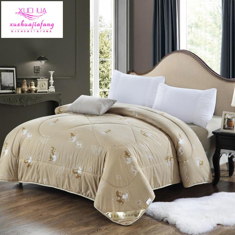 d72371f965 100% Cotton Quilt Thicker Camel Hair Duvets Quilted Adult Camel Hair ...