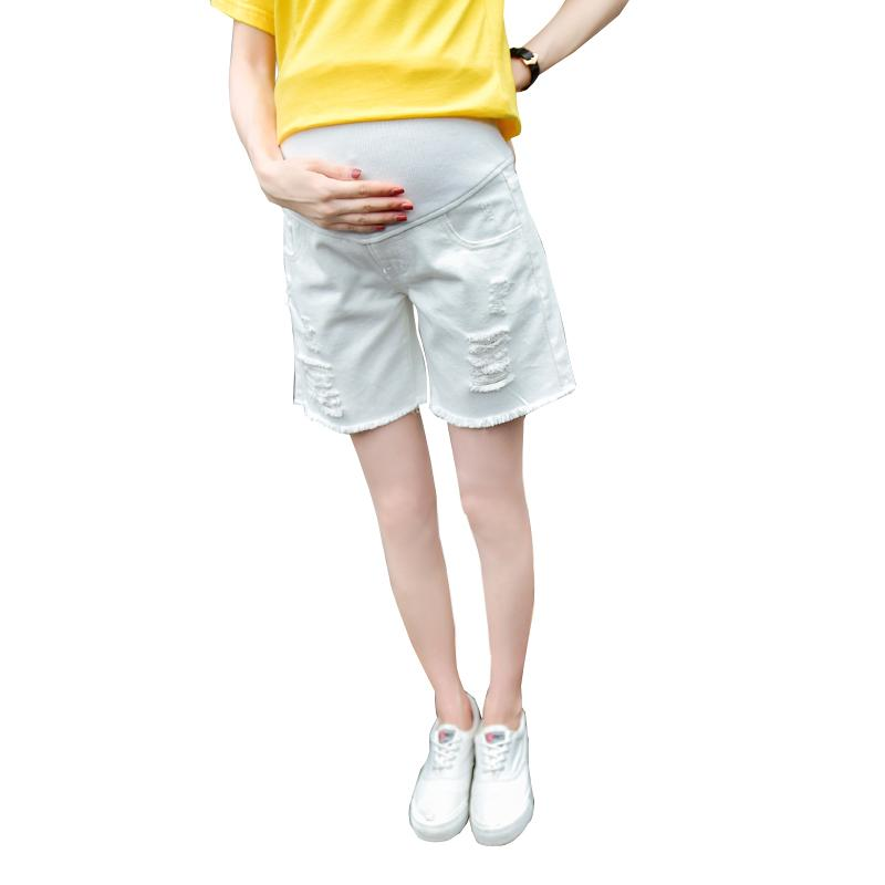 a23e5ae58f 2019 2018 Summer Maternity Jeans Short For Pregnant Women Breathable Pregnancy  Clothes Comfortable Love Print Abdominal Denim Shorts From Newyearable, ...