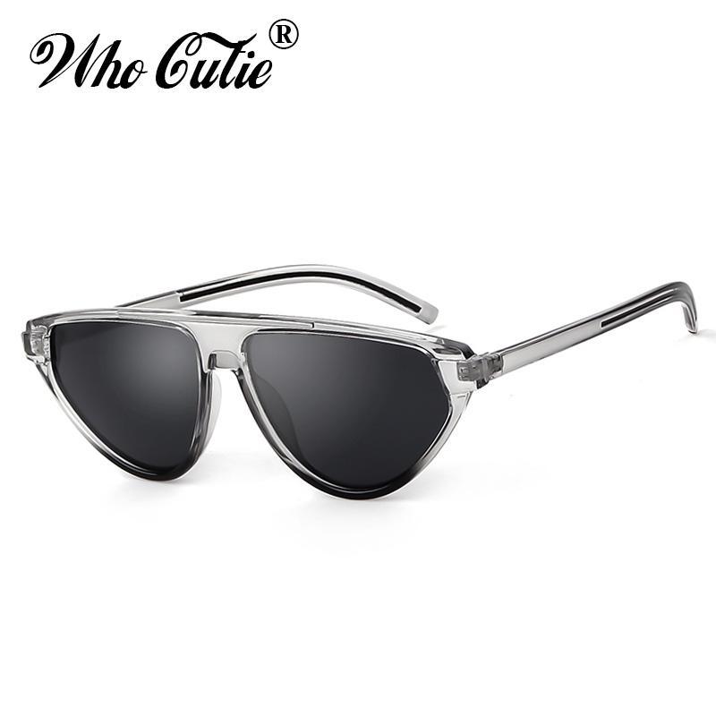 0d91ea4ee0 WHO CUTIE 2019 Triangle Cat Eye Sunglasses Women Brand Designer Vintage  Leopard Cateye Frame 90S Female Sun Glasses Shades OM790 Serengeti Sunglasses  Sun ...