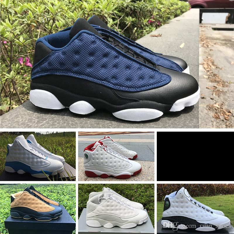 d572228f21569 Compre Nike Air Jordan 13 Retro Con Box 2018 Fashion New Sport Sneakers J13  Low Spurs Blanco Negro Zapatillas De Baloncesto Sports 13 Sports Running  Shoes ...