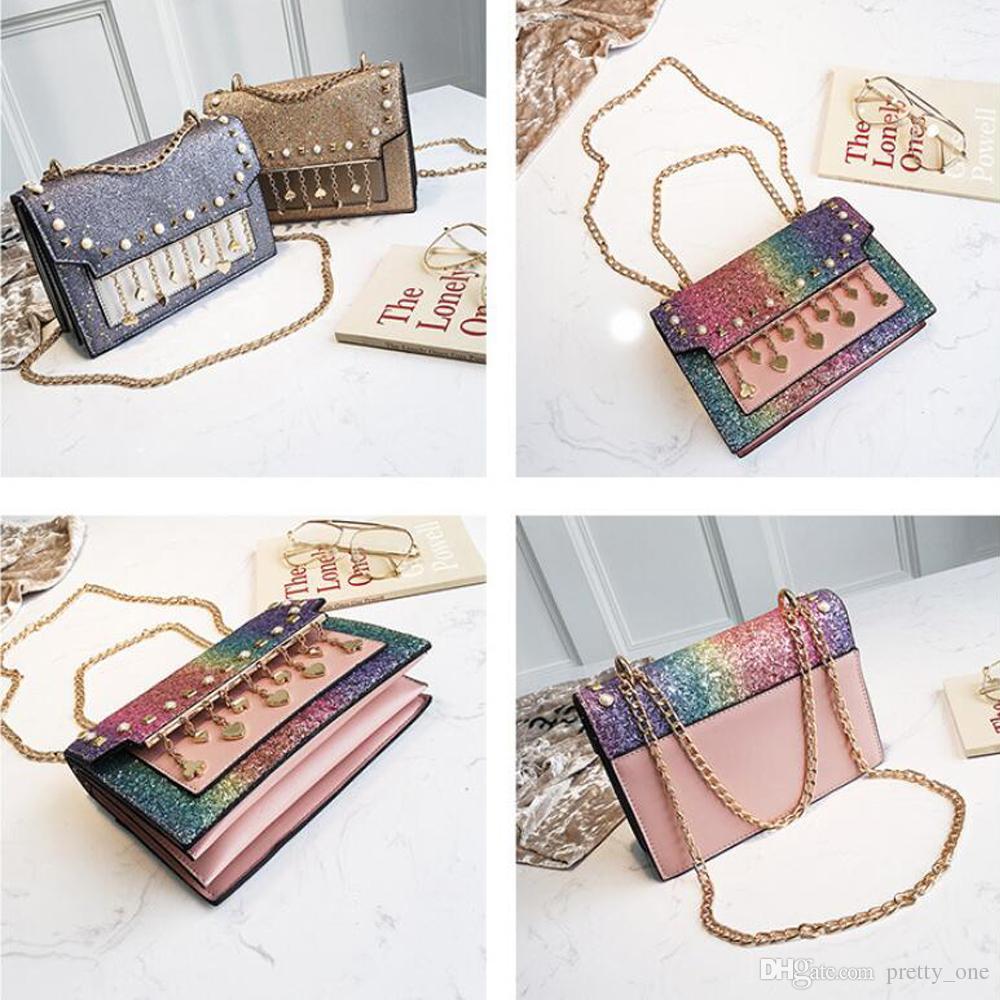 Glittering Women's Shoulder Style Sequins Tassels Small Bag Handbag Casual Shoulder Messenger Slant Bag Mother's Day Gift