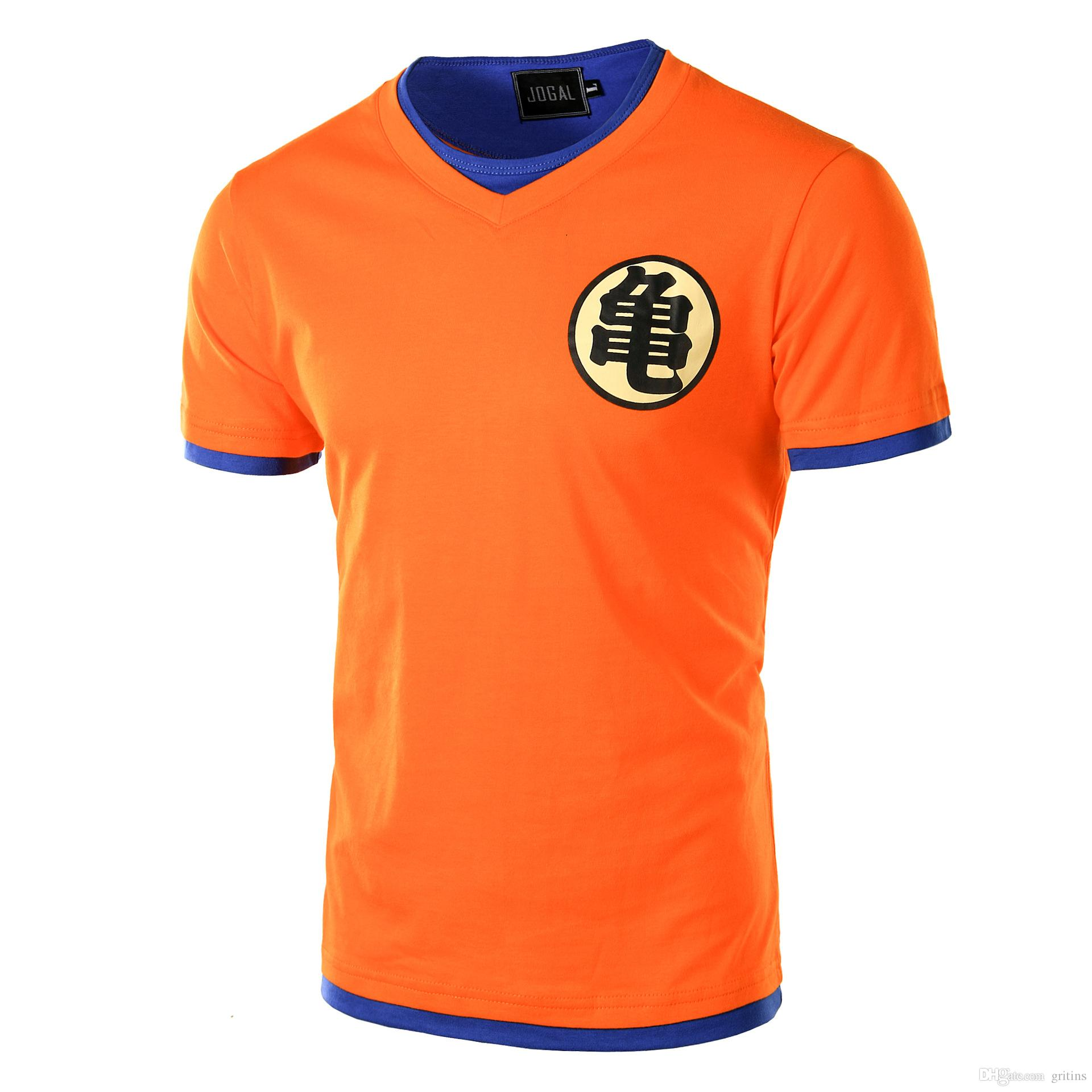Dragon Ball Z Mens Goku Kame Turtle Symbol Goku Pullover Slim Fit T