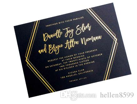 2019 Logo Gold Embossed Hot Foil Stamped Business Cards From