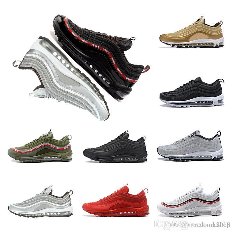 e9fb6985c364a0 Acquista Nike Air Max97 Scarpe Triple Bianco Nero Rosa Scarpe Da Corsa Og  Metallic Gold Silver Bullet Mens Scarpe Da Ginnastica Sportive Scarpe  Sneakers ...