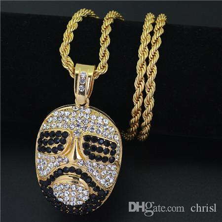 Wholesale hip hop gold chain portrait sunglasses diamond pendant for wholesale hip hop gold chain portrait sunglasses diamond pendant for men women alloy cuban twist chain charm franco gold pendants for necklaces flower aloadofball Image collections