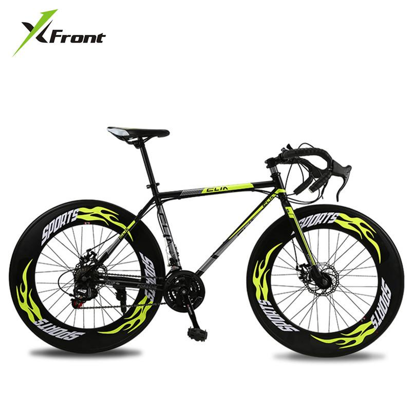 New Road Bicycle Carbon Steel Frame 700CC Wheel 21/27 Speed Dual ...