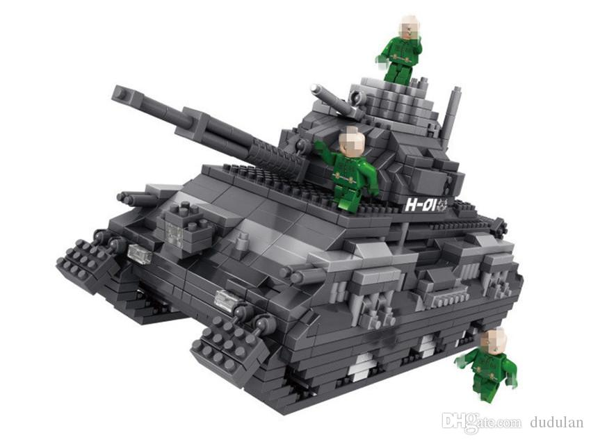 PZX Micro Blocs Militaire Série Petits Navires De Guerre briques Éducative Assemblée Assemblé Chasseur Modèle Enfants Cadeaux jouets pour Enfants # 9910