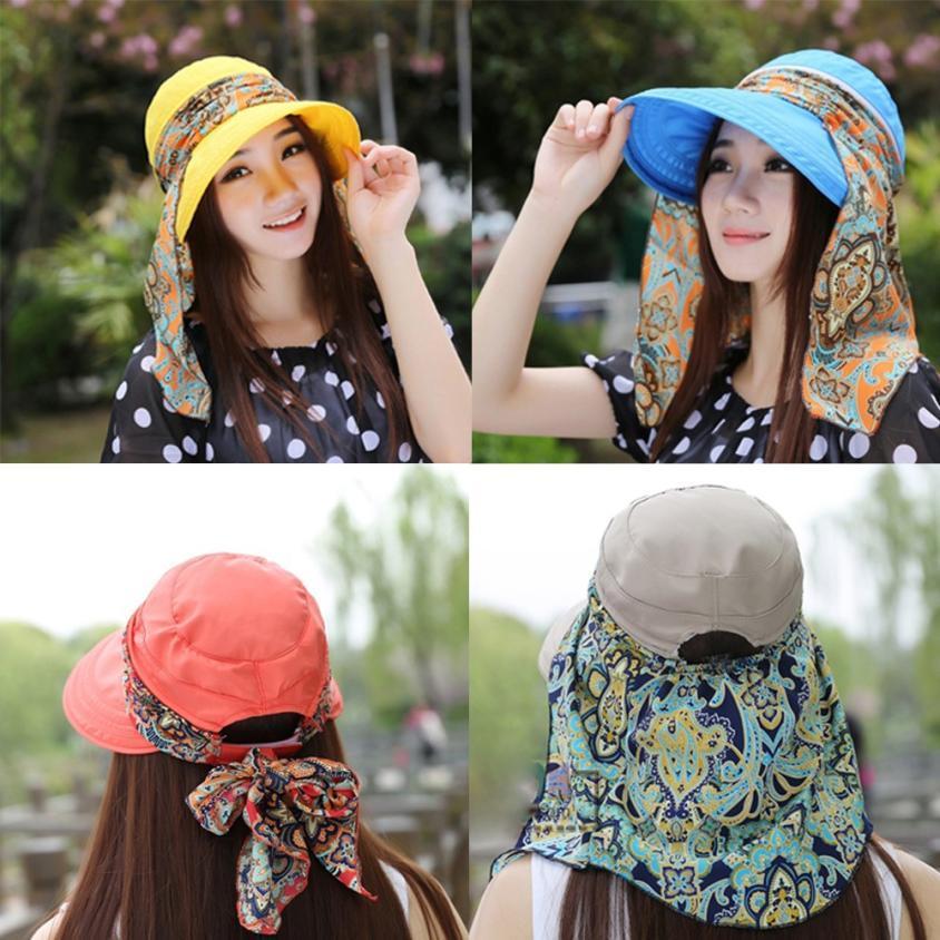 Fashion Women Ladies Holiday Visor Hat Summer Sun Beach Foldable Roll Up  Wide Brim Cap Summer 2018 Jy12 Church Hats Vintage Hats From Spectalin 52ee4a47c2de