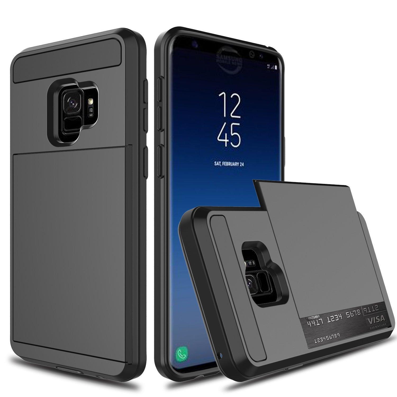 Günstig Handy Kaufen Für Samsung Galaxy S9 Hüllen Coque Samsung S9 Schutz Hülle Silikon Funda Für Samsung Galaxy S9 Plus Hülle S9 Slide Card Slot