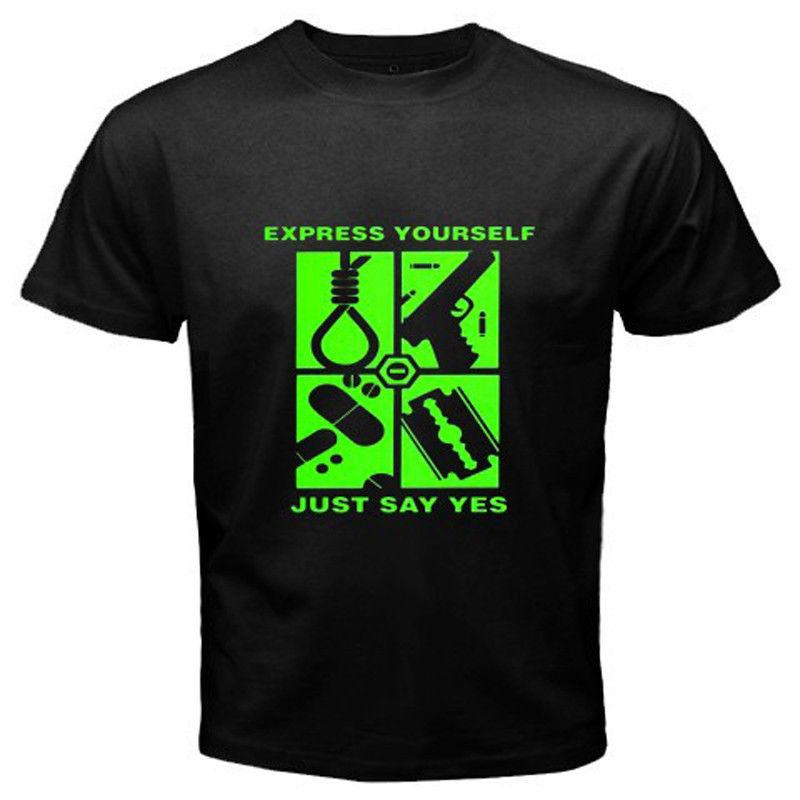 New Peter Steele Type O Negative Express Yourself Men S Black T Shirt Size Short Sleeve Tshirt Tops Hip Hop Short Sleeve