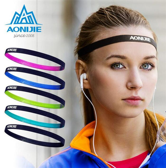 AONIJIE Yoga Headbands Men Women Sports Hair Band Anti Slip Elastic  Sweatband Fitness Yoga Gym Running Cycling Headband UK 2019 From Godefery fec5a7ce95