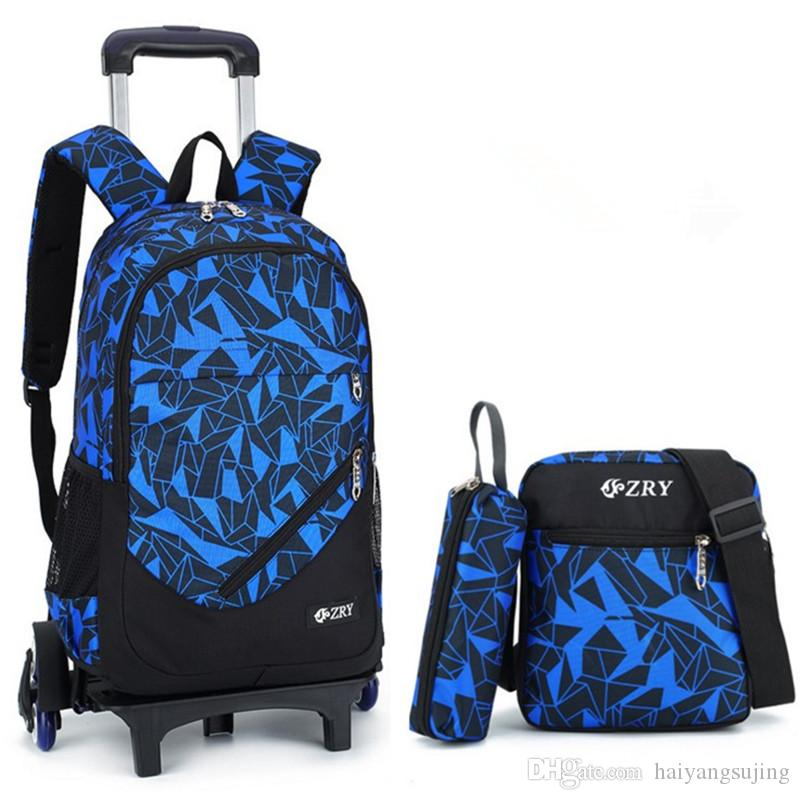 3429f6e83ec Teenager Children Mochilas Kids School Bags With Wheel Trolley Luggage For Boys  Girls Schoolbag Backpack Mochila Infantil Bolsas Bolsos Laptop Bag Bolsa ...