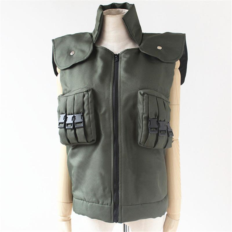 Hot Japanese Anime NARUTO Cosplay Costumes Hatake Kakashi Green Unisex green Vest Garment D 018 55