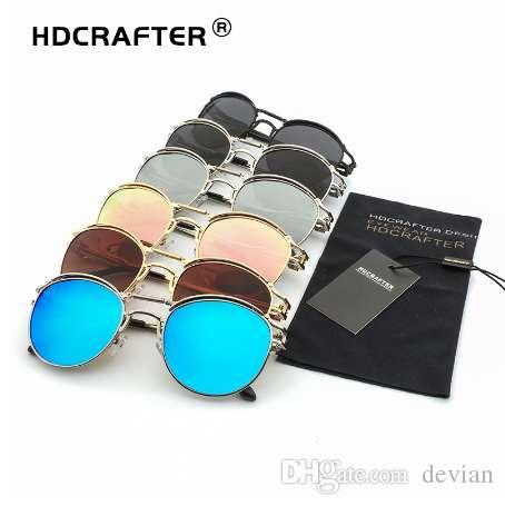 04415aaca5 HDCRAFTER Polarized Steampunk Sunglasses Women Metal Sunglasses Men  Polarized Mirrored Sun Glasses Brand Designer High Quality Polarized  Sunglasses ...